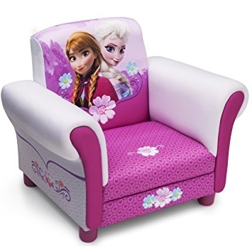 Amazon: Childs Disney Frozen Anna & Elsa Arm Chair Upholstered With Regard To Favorite Disney Sofa Chairs (View 1 of 10)
