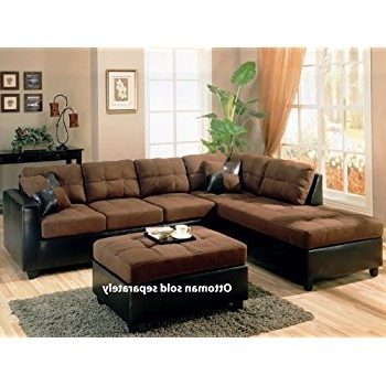 Amazon: Coaster Fine Furniture 505655harlow L Sectional Sofa For Well Known Chocolate Sectional Sofas (View 2 of 10)