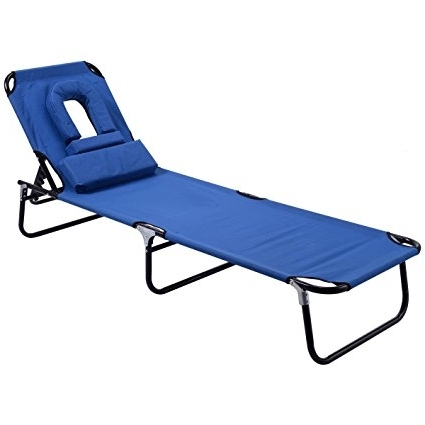 Amazon: Goplus Folding Chaise Lounge Chair Bed Outdoor Patio Regarding Current Beach Chaise Lounge Chairs (View 2 of 15)