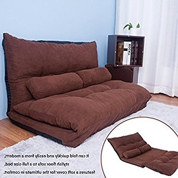 Amazon: Harper & Bright Designs Folding Sofa Chair Cushioned Regarding Most Recent Fold Up Sofa Chairs (View 9 of 10)