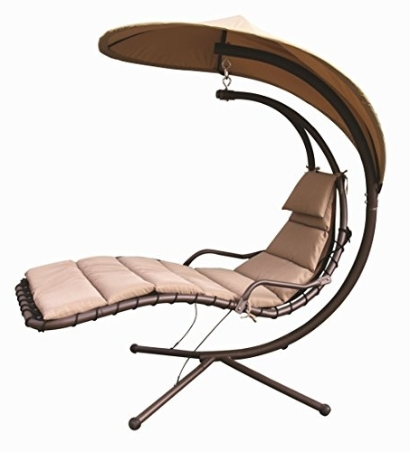 Amazon : Naturefun Hammock Chair With Arc Stand / Adjustable Throughout Most Recently Released Hanging Chaise Lounge Chairs (View 2 of 15)