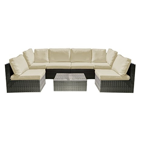 Amazon : Oakville Fully Assembled 7 Piece Modern Outdoor Patio For Newest Oakville Sectional Sofas (View 3 of 10)