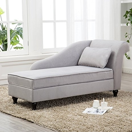 Amazon: Tongli Chaise Lounge Storage Sofa Chair Couch For Regarding Fashionable Chaise Lounge Chairs With Storage (View 3 of 15)