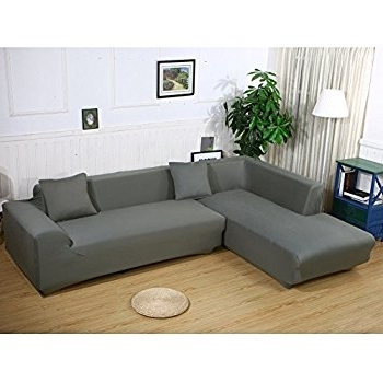 Amazon: Universal Sofa Covers For L Shape, 2Pcs Polyester With Trendy L Shaped Sofas (View 1 of 10)
