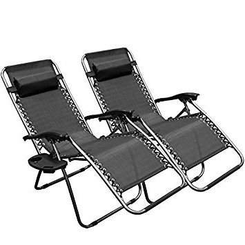 Amazon : Xtremepowerus Zero Gravity Adjustable Reclining Chair For Most Recently Released Adjustable Pool Chaise Lounge Chair Recliners (View 6 of 15)