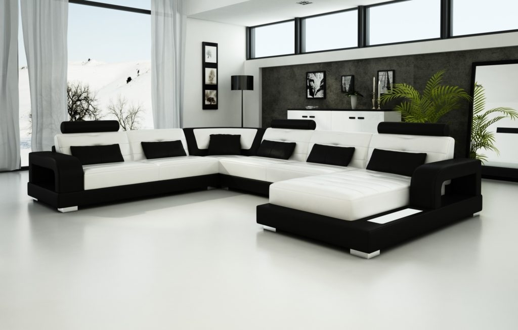 Amepac Furniture Within Black And White Sofas (View 1 of 10)