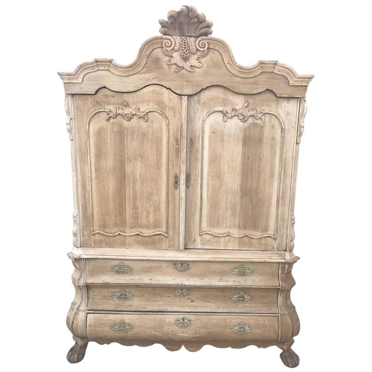 Antique French Solid Oak French Armoire Or Linen Press At 1Stdibs For Well Liked Antique French Wardrobes (View 4 of 15)