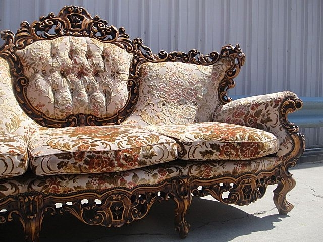 Antique Furniture Italian Carved Walnut Sofa Couch! (View 1 of 10)