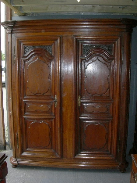 Antique Furniture Warehouse – Large Antique Oak Wardrobe – Large For Well Known Large Oak Wardrobes (View 3 of 15)