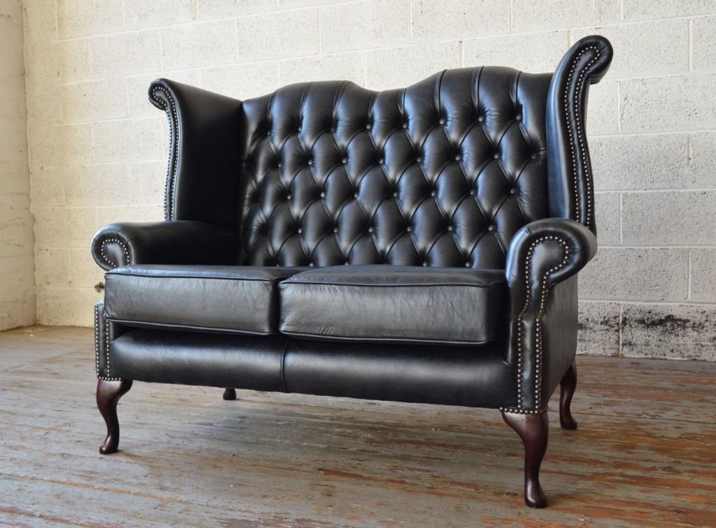 Antique Queen Anne Leather Chesterfield Sofa (View 3 of 10)