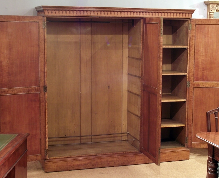 Featured Photo of Antique Triple Wardrobes