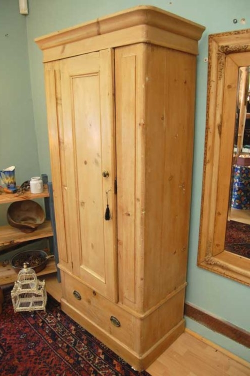 Antique Single Wardrobes In Newest Victorian Pine Single Wardrobe – Antiques Atlas (View 4 of 15)