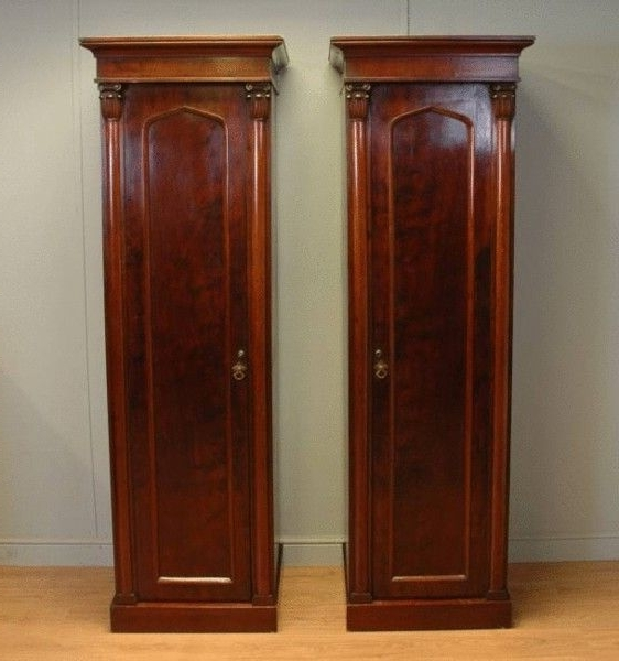 Antique Single Wardrobes Pertaining To Famous Pair Of William Iv Mahogany Small Single Antique Wardrobes (C (View 5 of 15)