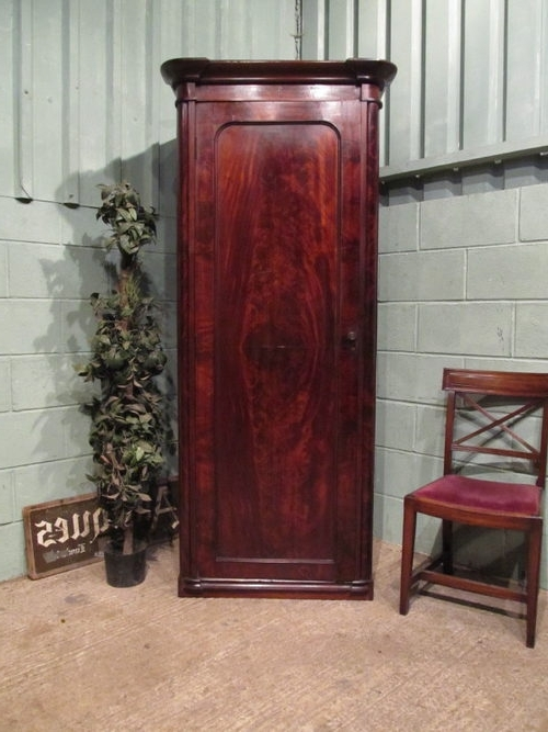 Antique Single Wardrobes With Regard To Most Up To Date Antique Victorian Mahogany Single Wardrobe C1880 – Antiques Atlas (View 8 of 15)