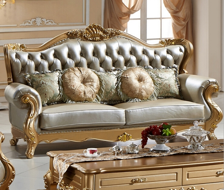 Antique Sofas Regarding Current Luxury Top Quality Classic Style Leather Sofa 0409 135 In Living (View 2 of 10)