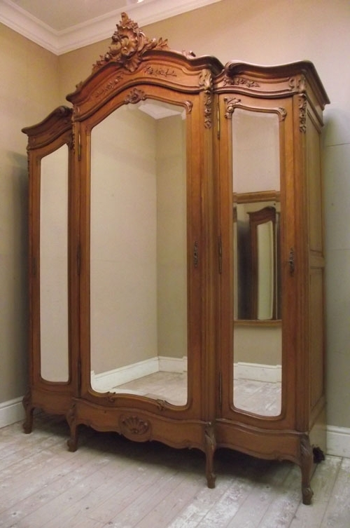 Antique Triple Wardrobes In 2017 If2854 Superb Antique Louis Xv Armoire Triple / Wardrobe (View 4 of 15)