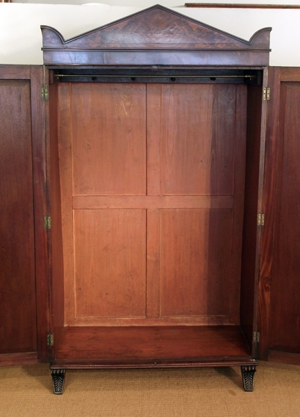 Antique Wardrobes With Regard To Newest Antique Wardrobe, Antique Hanging Wardorbe, Small Antique Wardrobe (View 9 of 15)