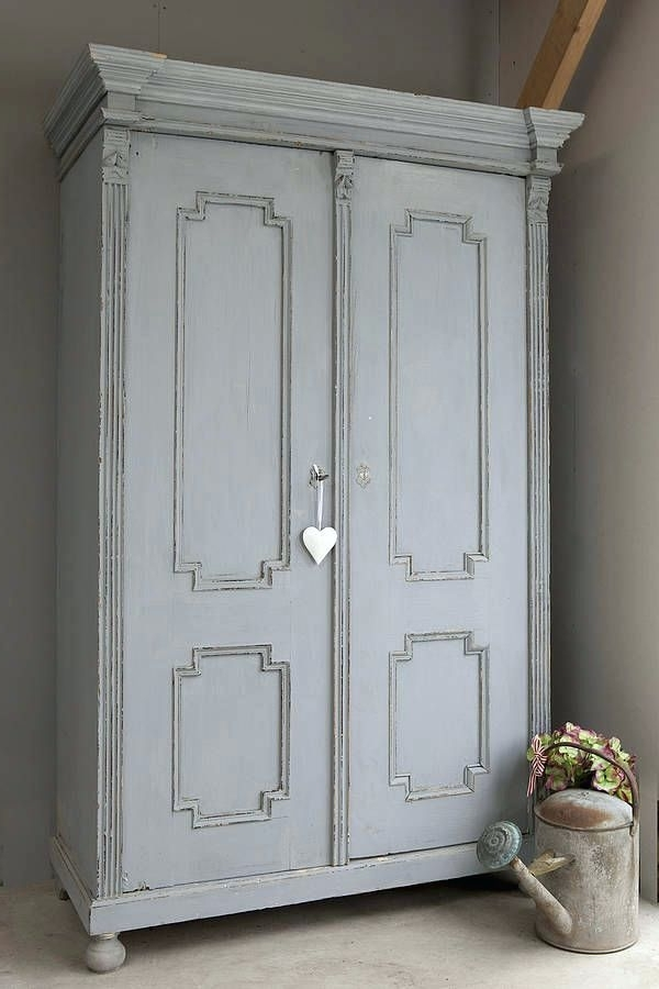 Antique White Wardrobes Inside Current Wardrobes ~ Vintage Style White Wardrobes Vintage Wardrobe Paint (View 2 of 15)