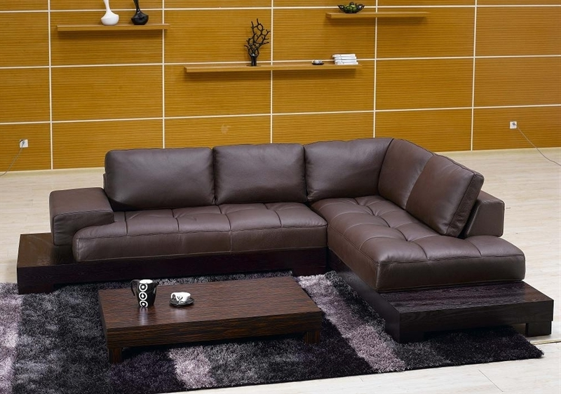 Appealing Brown Leather Sectional Sofa Tos Fy633 2 Br On Modern Intended For Most Current Vt Sectional Sofas (View 5 of 10)
