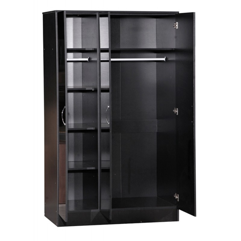 Ark Furniture With Regard To 3 Door Black Gloss Wardrobes (View 4 of 15)