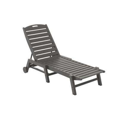 Armless Outdoor Chaise Lounge Chairs With Well Liked Polywood – Outdoor Chaise Lounges – Patio Chairs – The Home Depot (View 4 of 15)