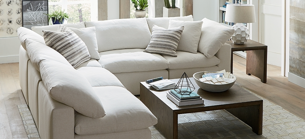 Armless Sectional Sofas Regarding Current Fabric Sectionals In Armless Sectional Sofa Decorating (View 2 of 10)