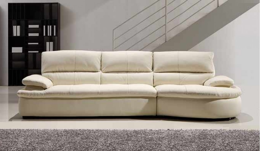 Ascoli White Leather Sofa – 4 Seater – Modern Style Delux Deco With Recent 4 Seater Sofas (View 8 of 10)