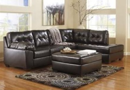 Ashley Alliston Durablend Chocolate Sectional Appliances Inside Favorite Clarksville Tn Sectional Sofas (View 2 of 10)