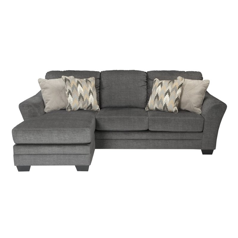 Ashley Furniture Sofa Chaises Inside Preferred Ashley Braxlin Sofa Chaise In Charcoal – (View 13 of 15)
