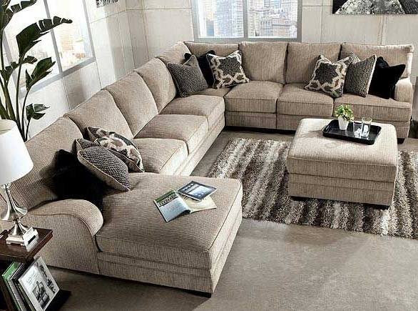 Ashley Furniture:cosmo  Marble 3 Piece, Raf Sectional Sofa Chaise For Preferred Large Sectional Sofas (View 2 of 10)