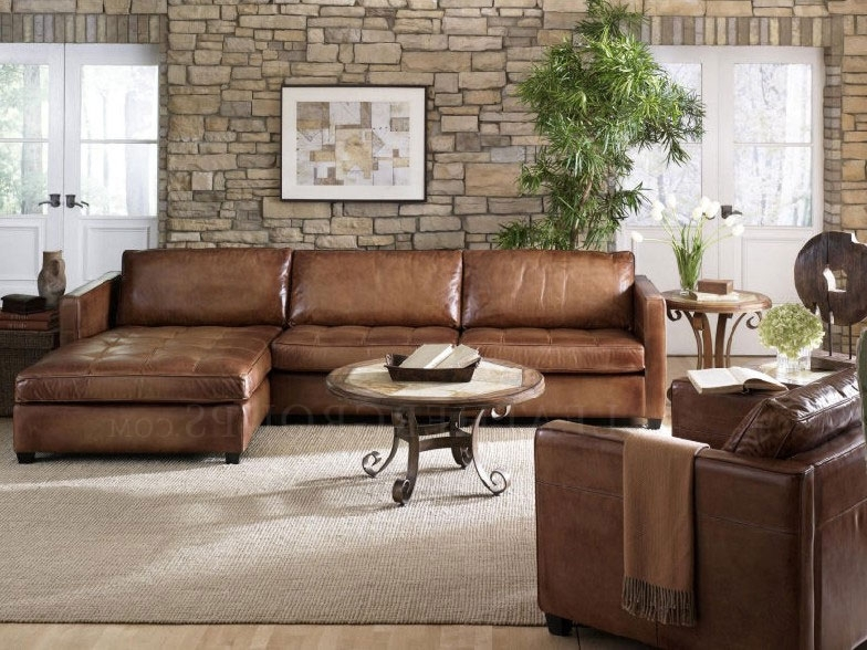 Attractive Leather Sectional Sofa Chaise 9 Best Leather Sectional With Trendy Leather Sofas With Chaise (View 4 of 15)