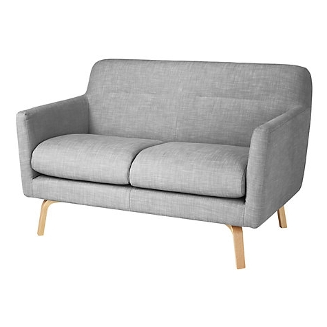 Awesome Buy Housejohn Lewis Archie Small 2 Seater Sofa Light Regarding Famous Small 2 Seater Sofas (View 6 of 10)