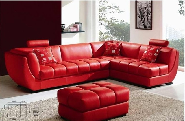 Awesome Red Leather Sofas Red Leather Sectional Sofa Magazine With Regard To Current Red Leather Sectional Couches (View 2 of 10)