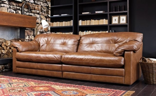 Bailey 4 Seater Split Sofa In Grade A Leather – Leather Sofas Inside Recent 4 Seat Leather Sofas (View 5 of 10)