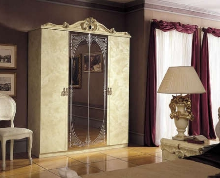 Barocco Baroque Italian Bedroom Suites Sets Regarding Most Current Baroque Wardrobes (View 12 of 15)