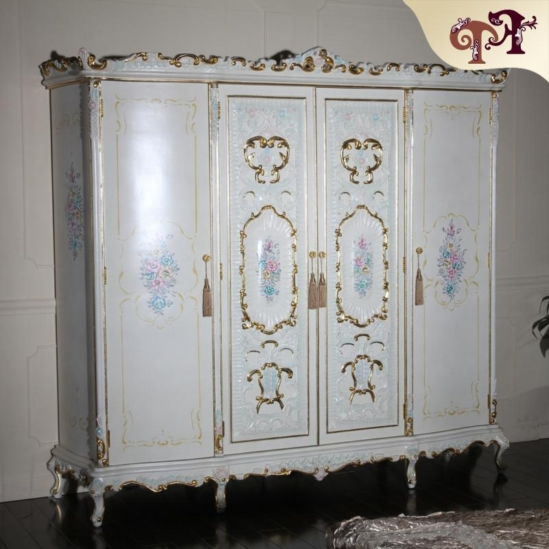 Baroque Wardrobes Inside Most Recent 2018 Antique Furniture Baroque Style Italian Bedroom Furniture (View 10 of 15)