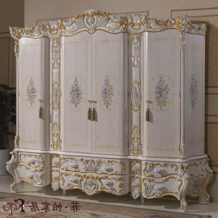 Baroque Wardrobes Throughout Widely Used Buy Baroque Style Hand Carved Wardrobe Closet French Classical (View 1 of 15)