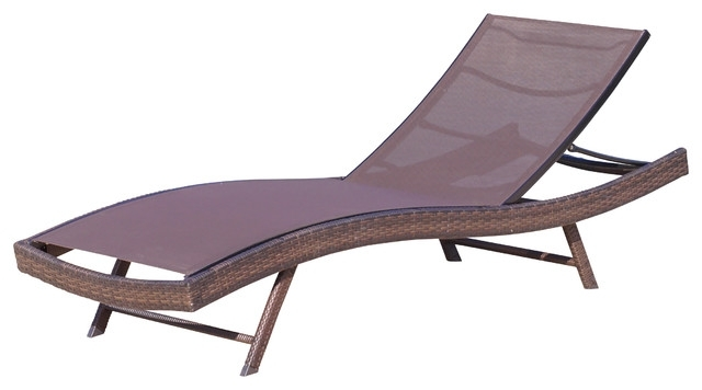 Beautiful Mesh Chaise Lounge Chairs Aluminum Chaise Lounge Pool Intended For Current Brown Outdoor Chaise Lounge Chairs (View 3 of 15)
