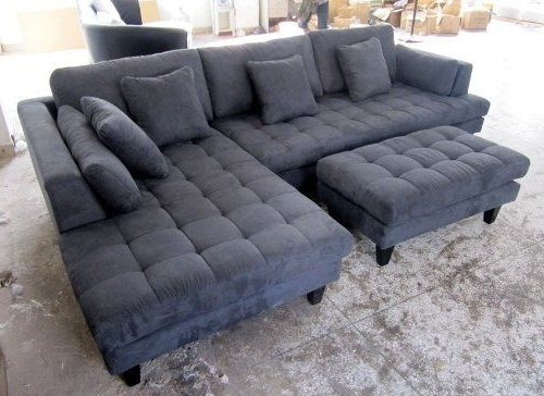 Beautiful Sectional Sofa With Chaise And Ottoman Pictures Intended For Latest Microfiber Sectional Sofas With Chaise (View 1 of 15)