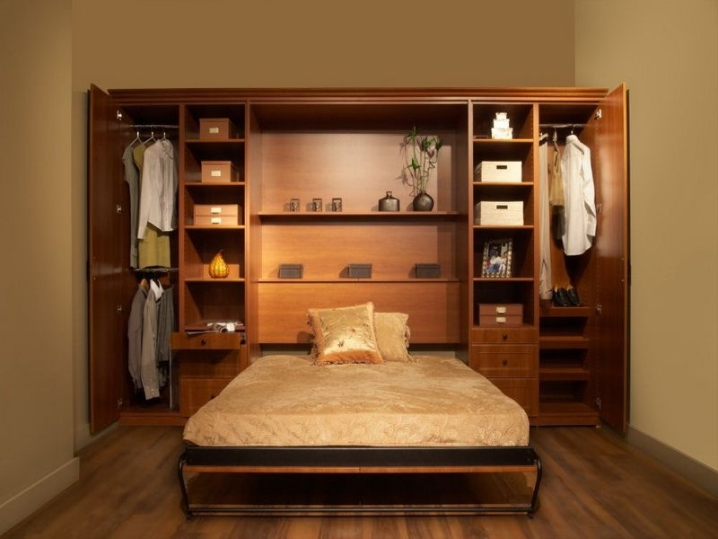 Bed And Wardrobes Combination With Regard To 2018 Murphy Beds Ikea (View 10 of 15)