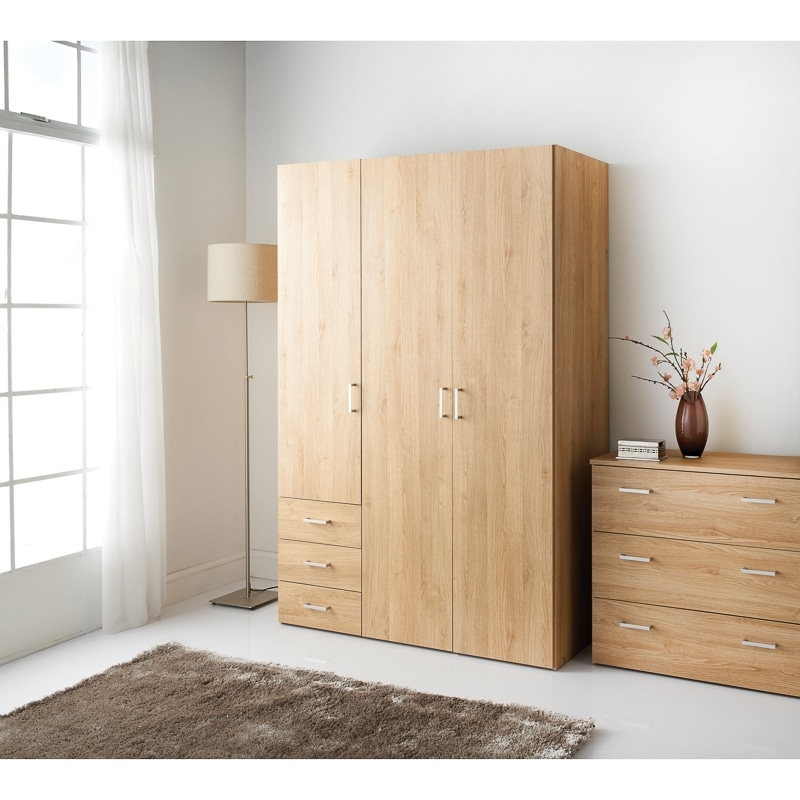 Bedroom Furniture – B&m Within Cheap 3 Door Wardrobes (View 7 of 15)