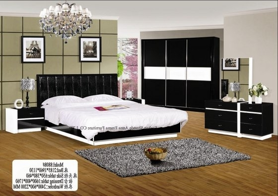 Bedroom Wardrobe Sets Beautiful On With White And Black Color With Regard To Latest Black And White Wardrobes Set (View 1 of 15)