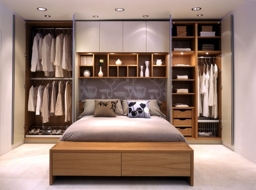 Bedroom Wardrobes With Regard To Trendy Bedroom Storage Ideas – Wardrobes On Either Side Of The Bed, And (View 2 of 15)