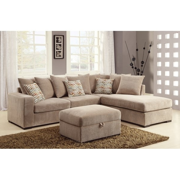 Beige Sectionals With Chaise Intended For Latest Loon Peak Albin Chaise Reversible Sectional & Reviews (View 3 of 15)