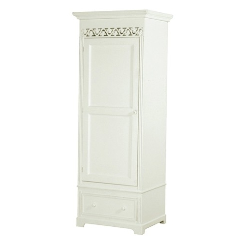Belgravia Chic Single Wardrobe – White Inside Well Known Single White Wardrobes With Drawers (View 1 of 15)