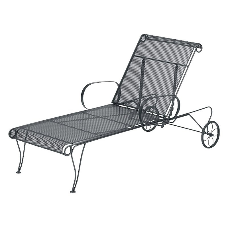 Belham Living Capri Wrought Iron Multi Position Single Outdoor Intended For Most Recently Released Wrought Iron Outdoor Chaise Lounge Chairs (View 3 of 15)