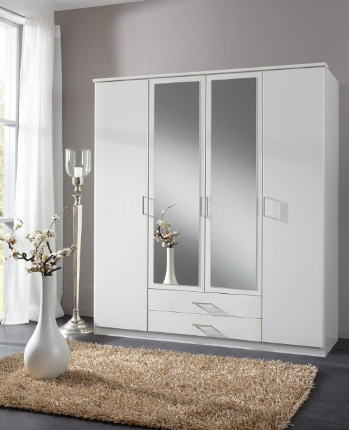 Best And Newest 4 Door White Wardrobe – German Wardrobes In 4 Door White Wardrobes (View 5 of 15)