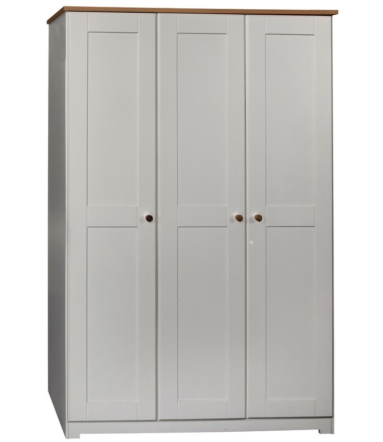Best And Newest Abdabs Furniture – Colorado Warm White 3 Door Wardrobe Throughout White 3 Door Wardrobes (View 2 of 15)