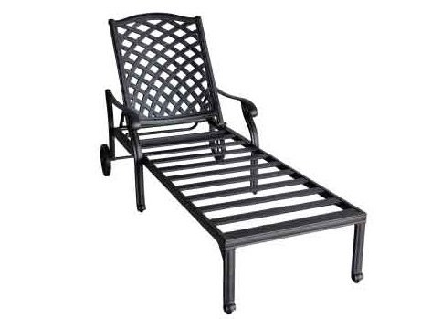 Best And Newest Aluminum Chaise Lounges Pertaining To Nassau Cast Aluminum Chaise Lounge – Antique Bronze (View 8 of 15)
