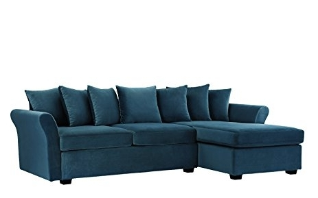 Best And Newest Amazon: Modern Large Velvet Sectional Sofa, L Shape Couch With Regarding Velvet Sectional Sofas (View 3 of 10)